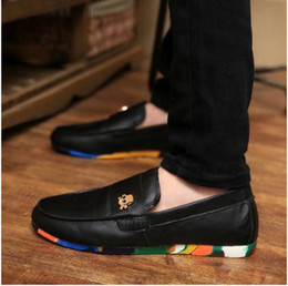Wholesale Casual Tassel Loafers Men - Wholesale- new 2015 Suede Genuine Leather Mens SLIP 0N loafers casual CAR Shoes Moccasin men driving boat shoe tassel Loafer