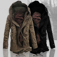 Wholesale Military Jacket Hood Mens - Wholesale- the winter jackets warm Thicken Military coats & jackets fashion thick cotton padded mens long winter parkas hood