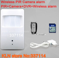 Wholesale Gsm Alarm Work - Wholesale-wireless pinhole camera pir motion sensor with sd card working standalone or for gsm alarm systems