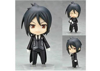 "Wholesale Nendoroid Sebastian - Wholesale-Free Shipping Nendoroid 4"" Cute Black Butler Sebastian Michaelis PVC Mini Action Figure Toy Doll #68"