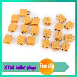 Wholesale Male Bullet Connectors - Wholesale-10pair lot XT60 bullet Connectors plugs Male Female RC lipo +free shipping