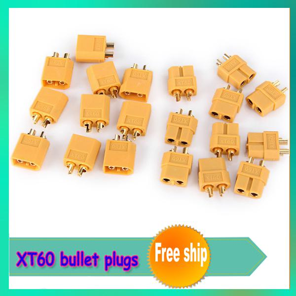 Wholesale-10pair/lot XT60  Connectors plugs Male/Female RC lipo +free shipping