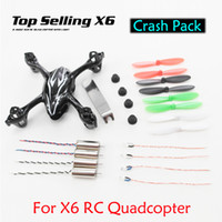 Wholesale Hubsan Helicopter - Wholesale-Value Meal Top Selling X6 H108C Spare Parts Crash Pack within Body Shell Motors Blades ,etc VS Hubsan X4 H107C Free Shipping