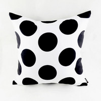 """Wholesale Black Polka Dot Bedding - Wholesale-18""""*18"""" Black White Polka Dot Abstract Geometric Throw Pillow Cover for Couch Bedding Home Warming Gifts"""