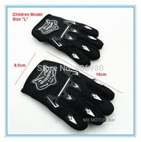 Wholesale Motor Quad - Wholesale-Children size Glove L XL size for mini-motor racing ATV-Quads gloves racing gloves knight gloves