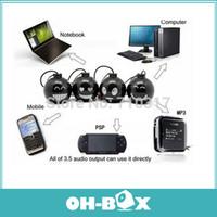 Wholesale Mini Speaker For Pc Laptop - Wholesale-10pcs lot Portable Mini bomb 3.5mm Mini Speaker for iPhone iPod MP3 Tablet PC Laptop