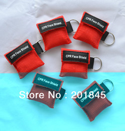 Wholesale First Faces - Wholesale-Free Shipping hot selling CPR Mask cpr face shield with Keychain for cpr first aid
