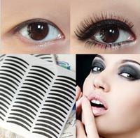 Wholesale Double Eyelid Tape Black - Wholesale-Black Double Eyelid Tape Eyeliner Korea Styling Tools Eyeliner Sticker 72 Pairs Double Eyelid Sticker Beauty tools