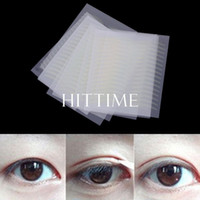 Wholesale Double Eye Sticker - Wholesale-New 160 Pairs Narrow Double Eyelid Sticker Tape Technical Eye Tapes # 56027