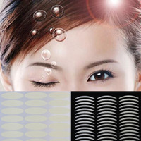 Wholesale Double Eye Sticker - Wholesale-10pcs Breathable Invisible Women Double Eyelid Tape Sticker Beautiful Eyes Reflective Stickers Drop Shipping MU-063