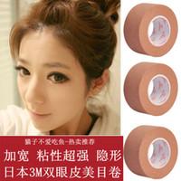 Wholesale Jumbo Eye - Wholesale-3m incarcerators skin color paper invisible double eyelid roll tape jumbo roll beautiful eyes stickers