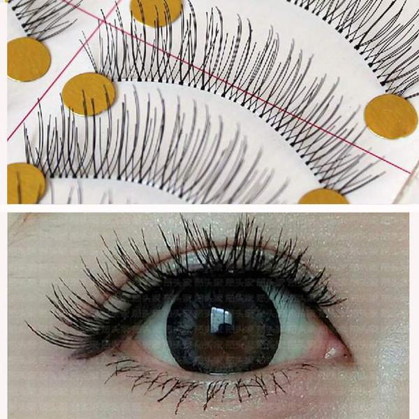 Wholesale- False Fake Eyelashes Full Strip False Lashes Handmade Mixed Natural Makeup For Party With Retail Box