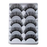 Wholesale Cheap Hair Glue - Wholesale-Charming Black Curling Eyelashes Cute Human Hair Eyelash Fake Eyelashes With Glue For Lashes Cheap False Eyelashes