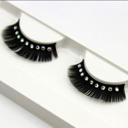 Wholesale Glitter Eyelash - Wholesale-1 pair pack Crystal glitter bridal photography fake false eyelashes.18.17732.Free shipping