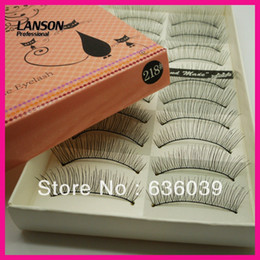 $enCountryForm.capitalKeyWord Canada - Wholesale-Free Shipping New 100 pcs lot Handmade Tied Lashes Hot Sale Natural Long False Eyelashes 218
