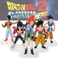 Wholesale Dbz Pcs - Wholesale-New Dragonball Z Dragon Ball DBZ Anime 15cm Goku Vegeta Piccolo Gohan super saiyan Joint Action Figure Toy 6 pcs Set