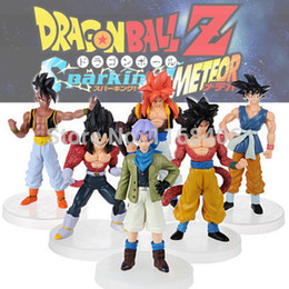 Wholesale Dragonball Z Dbz - Wholesale-New Dragonball Z Dragon Ball DBZ Anime 15cm Goku Vegeta Piccolo Gohan super saiyan Joint Action Figure Toy 6 pcs Set