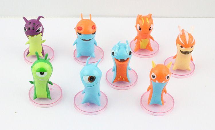 Wholesale-2015 New Cute 6cm different Slugterra 8pcs/set Figure Toy Free Shipping