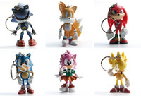 Wholesale Sonic Figures Loose - Wholesale-Wholesell Retail 2015 Free Shipping FS Sonic the Hedgehog Mini Figures Collectibles 6pcs Loose for Children's Day Cute