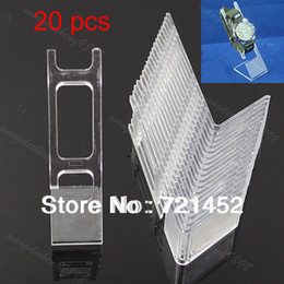 Wholesale Clear Plastic Bracelets - Wholesale-J35 Free Shipping 20 PCS Clear Plastic Watch Bracelet Jewelry Showcase Display Stand Holder Rack