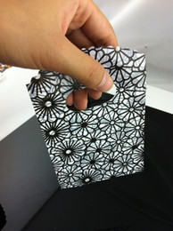 Wholesale Plastic Flowers For Sale - Wholesale-Hot sale!500Pcs 15X9cm BLACK ADN GRAY Flower Pattern Small Plastic Jewelry Gift Packaging Bag Pouches For Boutique Free Shipping