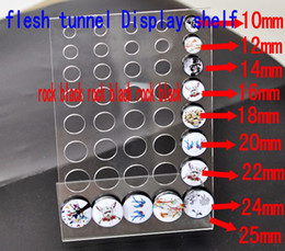 Wholesale Tunnel Display - Wholesale-10 PCS clear acylic Flesh Tunnel Body Jewellery Display Stand DP16969