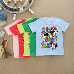 Wholesale Childrens Blouses - Wholesale-wholesale of clothes brand new 2015 summer kids girl t -shirt clothing childrens clothes 100%cotton child blouse t shirts