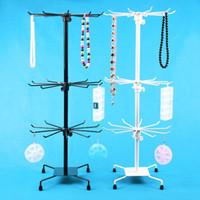 Wholesale Metal Handbag Stands - Wholesale-Wholesale Metal Rotating Handbag Chain Bracelet Necklace Display Stand Rack Holder