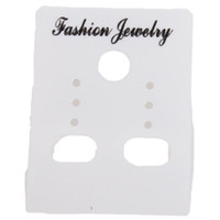 Wholesale Custom Jewelry Tags Cards - Wholesale-Wholesale 540pcs lot Fashion White Custom Jewelry Earrings Packaging Display Cards plastic Tags 4*3mm 260331 Free Shipping
