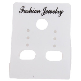 Wholesale Earring Package Card - Wholesale-Wholesale 540pcs lot Fashion White Custom Jewelry Earrings Packaging Display Cards plastic Tags 4*3mm 260331 Free Shipping