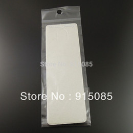 Wholesale Display Cards Paper - Wholesale-19.5*5cm Free Shipping Paper Silver Gray Jewelry Necklace Display Hanging Card With Bag 100pcs 36887-068I