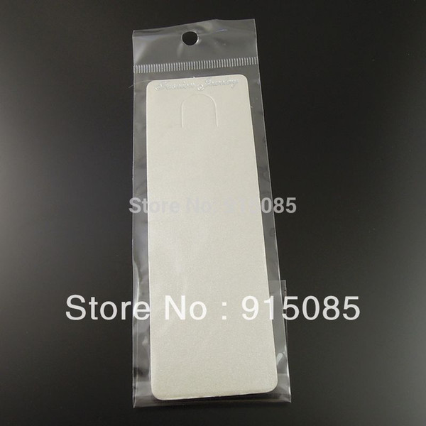 best selling Necklace Jewelry Display 19.5*5cm Free Shipping Paper Silver Gray Jewelry Necklace Display Hanging Card With Bag 100pcs 36887-068I