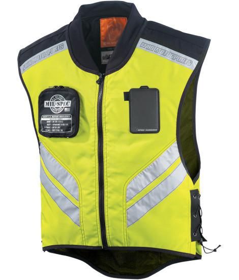 Wholesale-MIL SPEC Motorcycle Riding Reflective Mesh Vest Adult Scooter Clothing Motorbike Warning Jacket So Cool Green Moto Jacket