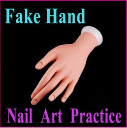 Wholesale Hands Practice Nails - Wholesale-Nail Art Equipment False hand Adjustable Nail Art Fake Hand for Training & Practice,Free Shipping Wholesale