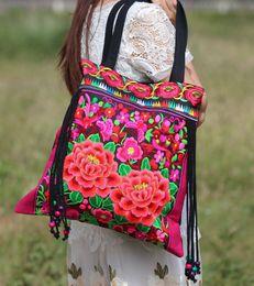 Wholesale Embroidered National Trend Bag - Wholesale-2016 new national trend embroidered bags handmade flower embroidery ethnic clothshoulder bag handbags
