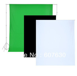 Wholesale Hand Painted Muslin - Wholesale-(3x6m)10x20ft 3pcs  Lot for Black White Green 100% Cotton Muslin Backdrops Photo Studio Background
