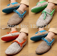 Wholesale Driving Mocassins - Wholesale-ODEMA New 2015 men shoes summer breathable fashion weaving sneakers casual men sneakers lace-up flats loafers driving mocassins