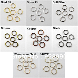 Wholesale Bronze Jewelry Jump Ring - Wholesale-Free Shipping 600Pcs Jump Rings Open Connectors 5mm Gold Silver Bronze Copper Black etc.For Jewelry Making Craft DIY