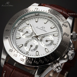 Wholesale Dress Imperial - New Ks Imperial Luxury Wristwatch Day Date Display Male Clock Relojes Hombre Automatic Mechanical Mens Dress Wrist Watches For Men   KS163