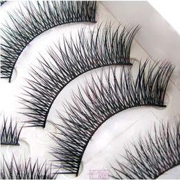 $enCountryForm.capitalKeyWord Canada - Wholesale-10Pair Lot Natural False Eyelashes make up tools Mink Eyelash Lashes Voluminous Makeup Tail Winged F46