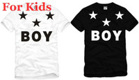 Wholesale Shirts Stars For Kids - Wholesale-For kids size 90 100 110 120 130 140 150cm boy london with star t shirt short sleeve t-shirt bigbang tee shirt hip hop tshirt