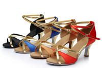 Wholesale Satin Shoes Latin Dance - Wholesale-BBS-108A014 Dancing shoes for women zapatos de baile latino latin dance shoes girls ballroom salsa dance shoes tenis feminino