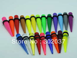 Wholesale Taper Kit Uv - Wholesale-free shipping different styles uv acrylic body piercing jewelry mixed colors and sizes ear taper kits spiral ear tapers