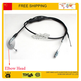 Wholesale Dual Pump - Wholesale- 150cc 200cc 250cc Motorcycle dual throttle cable accelerating accelerate pump carburetor use elbow head free shipping