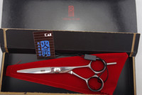 Wholesale Hair Dressing Scissors Inch - Wholesale-KASHO Professional Hair dressing scissors set flat cutting Barber shears 6 inches High-grade quality S156-60