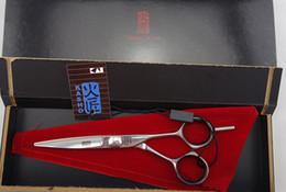Wholesale Dress Scissors - Wholesale-KASHO Professional Hair dressing scissors set flat cutting Barber shears 6 inches High-grade quality S156-60