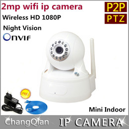 Cctv Ptz Monitor Canada - Wholesale-ip camera 2mp ptz 1080p Mega pixels sd WIFI Two-way audio HD Wireless P2P Rotation cctv cameras alarm Mobile phone monitoring