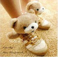 Wholesale Pink Bear Shoes - Wholesale-Teddy bear in 2011 to help black and white panda shoes, high shoes, teddy bears