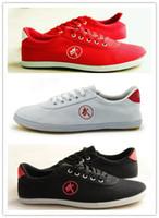 Wholesale Tai Chi Kungfu Shoes - Wholesale-Chinese Famous Brand Men Women Sport relax kungfu shoes wushu Tai Chi shoes Martial Arts running Canvas Sneaker Shoes sapatilhas