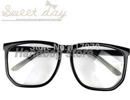 Wholesale Nerd Dress - Wholesale-New Oversized Tortoise Shell Retro Nerd Geek Black Clear Lens Plain Glasses For Fancy Dress Drop Shipping
